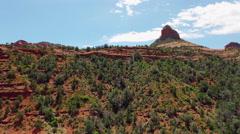 Aerial - Oak Creek Canyon - Sedona, Arizona Stock Footage