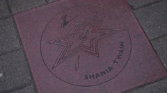 Shania Twain star on Canada Walk of Fame Stock Footage