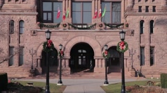 Ontario's Capitol Building Legislature Building toronto canada Stock Footage