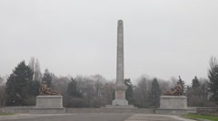 Soviet Military Cemetery, Warsaw Stock Footage