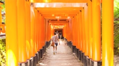 KYOTO, Fushimi Inari Shrine Stock Footage