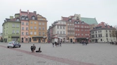 Historic Centre old town of Warsaw, Poland Stock Footage