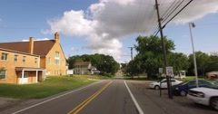 POV Driving Typical Western Pennsylvania Small Town Residential Neighborhood Stock Footage