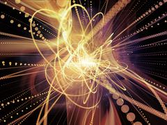 Acceleration of Wave Particle - stock illustration