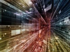 Speed of Technology - stock illustration
