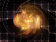 Visualization of Glow Forms Stock Illustration