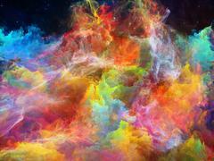 Magnificent Space Nebula - stock illustration