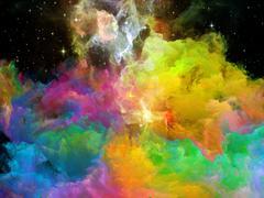 Emergence of Space Nebula Stock Illustration