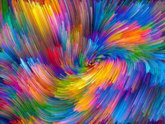 Advance of Color Vortex Stock Illustration