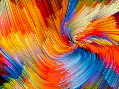 Color Vortex Backdrop Stock Illustration