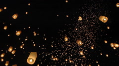 Floating asian lanterns in Chiang Mai ,Thailand Arkistovideo