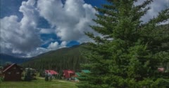 Clouds Form Over Mountains in Upper Valley Red River Stock Footage