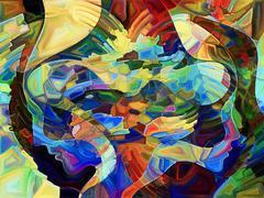 Petals of Fragmentation Stock Illustration