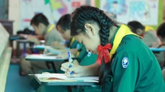 Activity of teaching Elementary students. Elementary students are Test lesson. Stock Footage