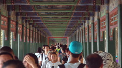Chinese painted walkway, Summer Palace Stock Footage