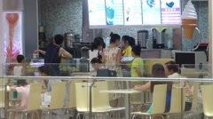 Shenzhen, China: snack bar shopping mall Stock Footage