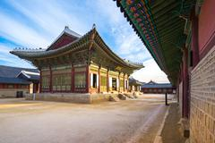 Gyeongbokgung palace landmark of Seoul Stock Photos