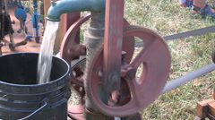 Steam engine era machinery equipment and tractors - stock footage