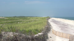 Early afternoon view of Ho Hum beach on Fire Island Stock Footage