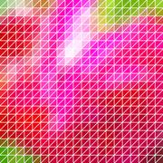 abstract geometric red, pink triangle grid - stock illustration