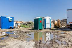 Mobile Toilette, Portal Potty, Toilets Stock Photos