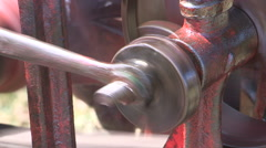 Steam powered machinery equipment and engines - stock footage