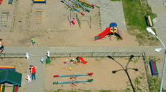 Kids playing on the children's playground - stock footage