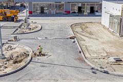 Landscape transform into urban area Stock Photos