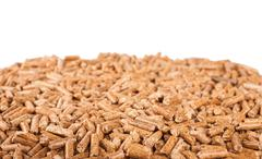 Pile of wooden pellets - stock photo