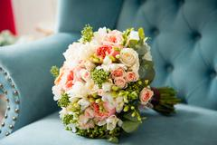 Beautiful elegant stylish bridal bouquet Stock Photos