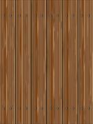 Pine Wood Fence - stock illustration