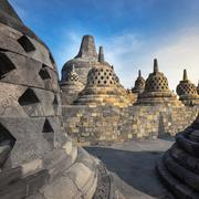 Borobudur, Buddist Temple in Yogyakarta, Indonesia Stock Photos