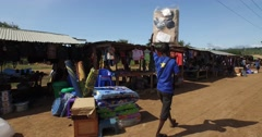 African local market walking pov 4K Stock Footage