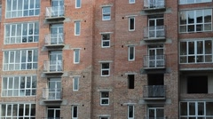 Apartment building. Shooting of a house, construction moment. Arkistovideo