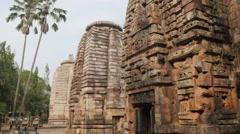 Satrughaneswara Hindu temple,Bhubaneswar,India Stock Footage