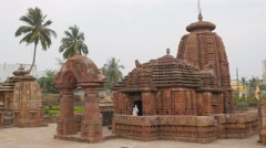 Mukteswar Hindu temple,Bhubaneswar,India Stock Footage