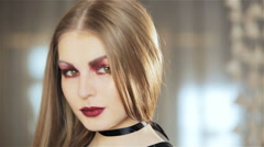 Blond in Black  Stock Footage