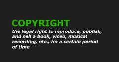 COPYRIGHT text in dictionary Stock Illustration