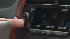Car interior temperature Stock Footage