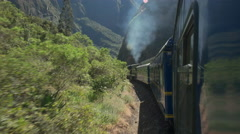 Peru rail journey from machu picchu to ollantaytambo Stock Footage