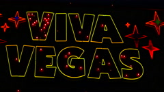 Viva Vegas Neon Sign - Las Vegas Stock Footage