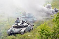 Main battle tanks under the Ukrainian flags Kuvituskuvat