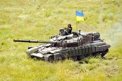 Main battle tank under the Ukrainian flag Kuvituskuvat