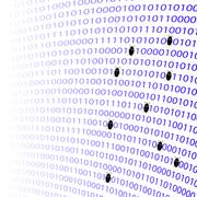 Binary Code Background. Numbers Concept Stock Illustration