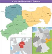 Free State of Saxony Stock Illustration