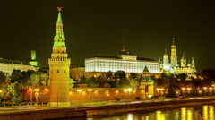 Kremlin Wall and Towers Motion View Time Lapse Stock Footage