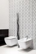 Modern toilet bowl - stock photo