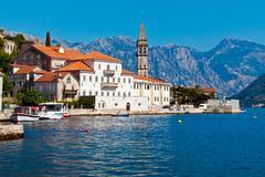Perast city, Montenegro Stock Photos