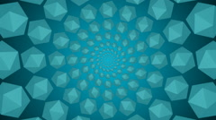 Blue background reflective shine light particles Stock Footage