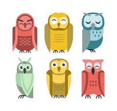 Cartoon owl vector Stock Illustration